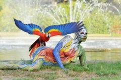 ANIMAL ART - PAPAGEI (Bodypaintingmodell: Katey / Fotograf: C. Korwes)