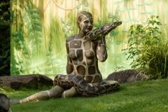 ANIMAL ART - SCHLANGE (Bodypaintingmodell: Katey / Fotograf: R. Oltmanns)