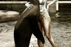 ANIMAL ART - SEELOEWE (Bodypaintingmodell: Daniela / Fotograf: T. Skupin)