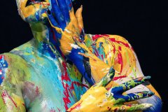 BODYART Kunstperformance ARTCIRCLE-SPLASH  (Aktmodell: Darky / Projektfotograf: C. Dauer)