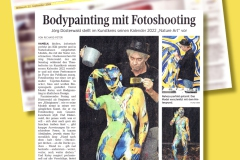 BODYART Kunstperformance Pressebericht ARTCIRCLE-SPLASH  (Aktmodell: Darky / Projektfotograf: C. Dauer)