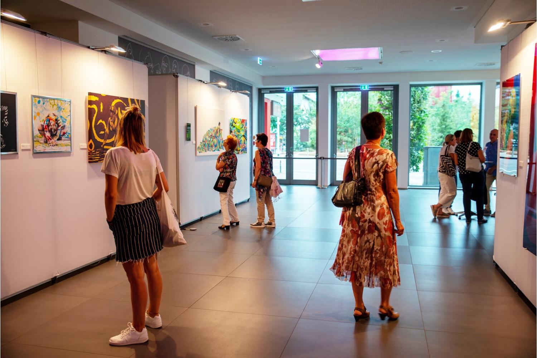 """ARTPARTY Ausstellung LIVING ART """"Unter der KSK-Pyramide"""" Heilbronn"""