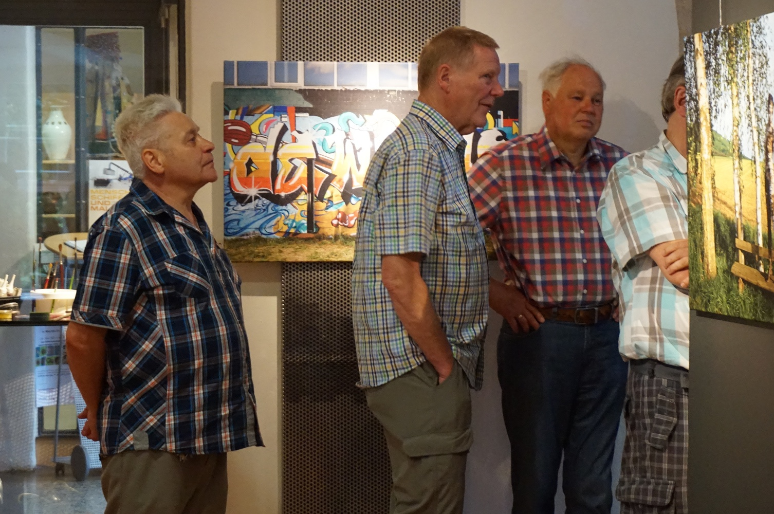 Vernissage zur Bodypainting-Ausstellung LIVING ART - Museum Rinteln