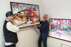 Gemälde-Übergabe PRINT.SPLASH-I und -II an QUBUS.media