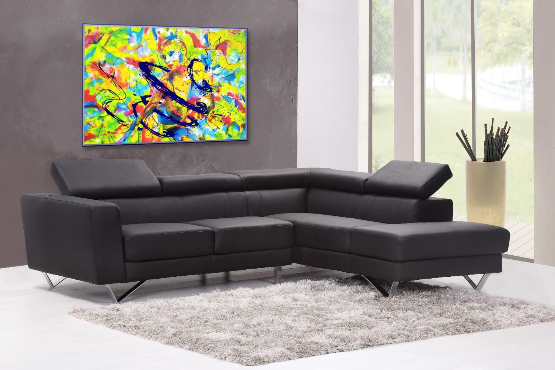 BODYART Gemälde specialArt COLOURLISA-1 (100x150 cm, Bild auf Keilrahmen-Leinwand, artist handmade finished)