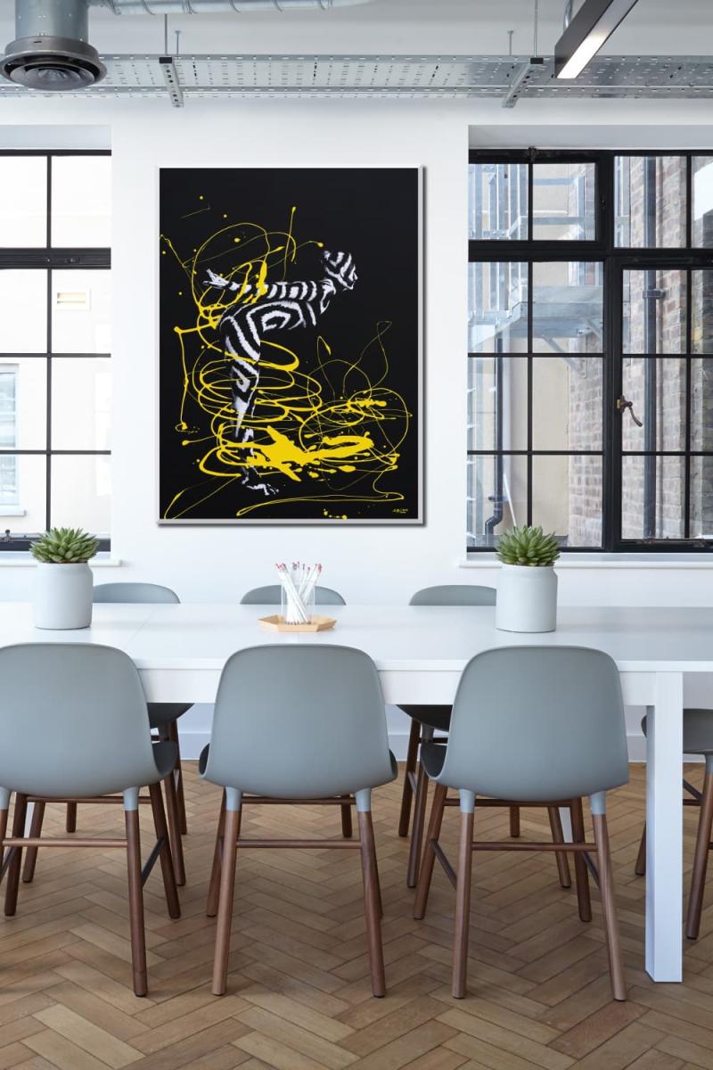 BODYART Gemälde specialArt GRAPHIC-2 (75x100 cm, Bild auf Keilrahmen-Leinwand, artist handmade finished)