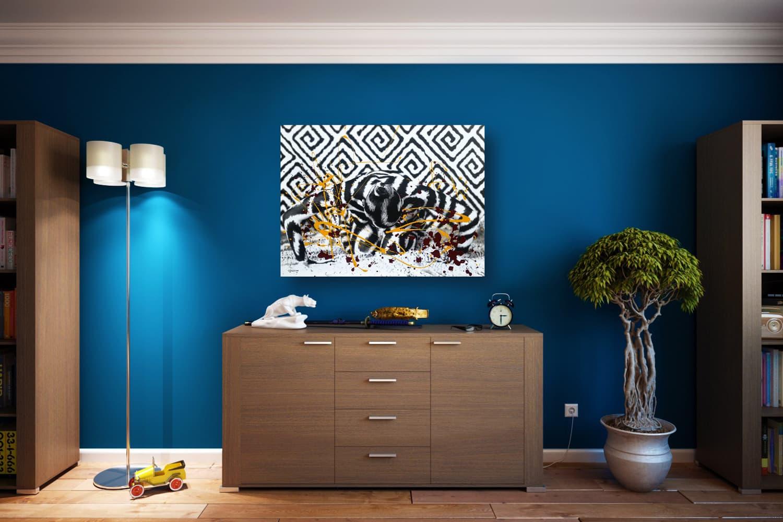 BODYART Gemälde specialArt GRAPHIC-3 (75x100 cm, Bild auf Keilrahmen-Leinwand, artist handmade finished)