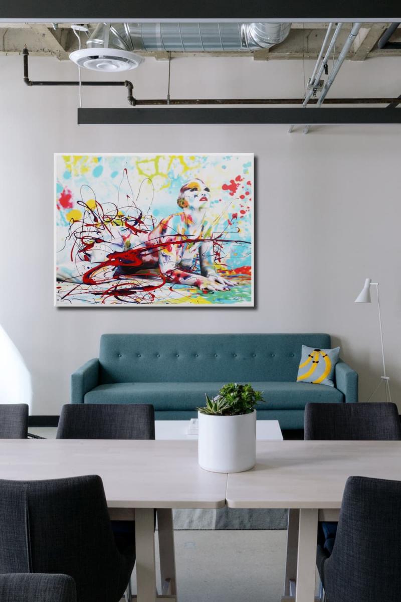 BODYART Gemälde specialArt MIXED-1 (75x100 cm, Bild auf Keilrahmen-Leinwand, artist handmade finished)