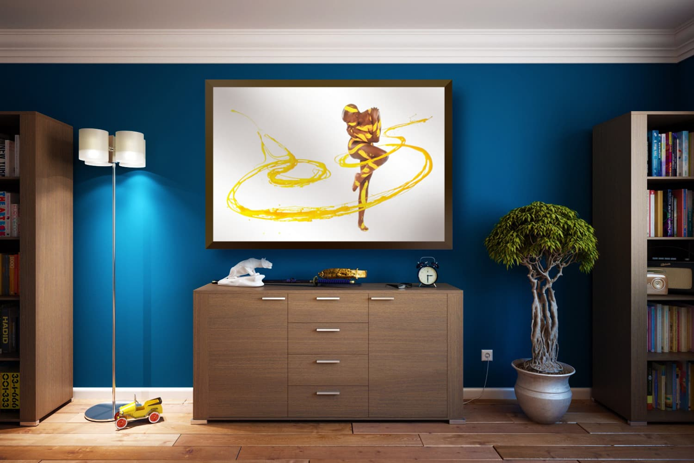BODYART Gemälde specialArt ORNAMENT-2.1 (100x150 cm, Bild auf Keilrahmen-Leinwand, artist handmade finished)