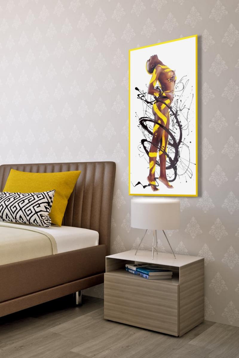 BODYART Gemälde specialArt ORNAMENT-2.2 (50x100 cm, Bild auf Keilrahmen-Leinwand, artist handmade finished)
