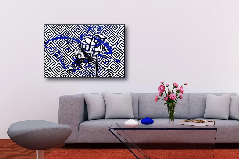 BODYART Gemälde specialArt POLEGRAPHIC-2 (80x120 cm, Bild auf Keilrahmen-Leinwand, artist handmade finished)
