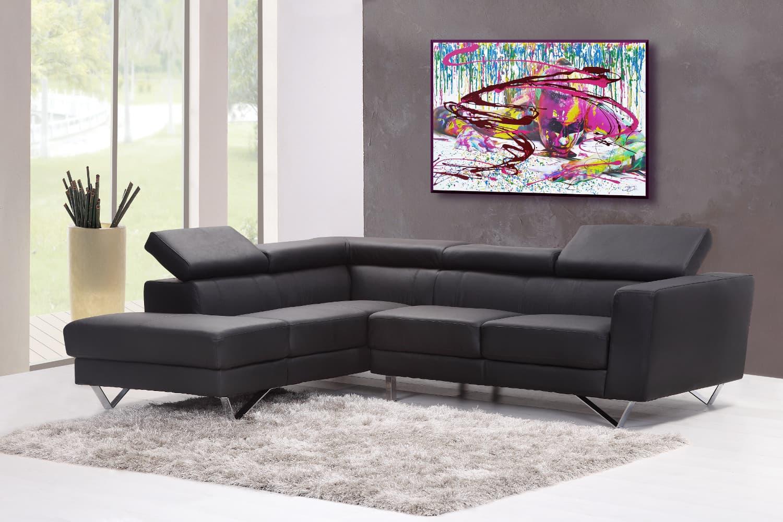 BODYART Gemälde specialArt PRINTSPLASH-2 (80x120 cm, Bild auf Keilrahmen-Leinwand, artist handmade finished)