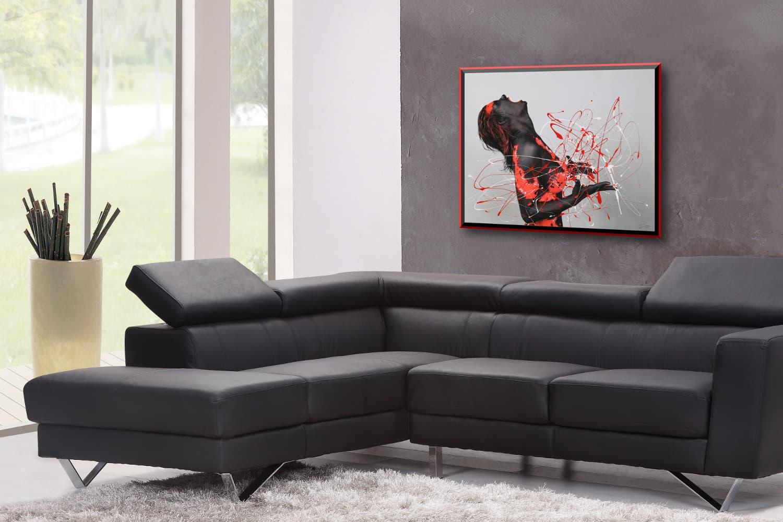 BODYART Gemälde specialArt RED.SPLASH-1 (75x100 cm, Bild auf Keilrahmen-Leinwand, artist handmade finished)