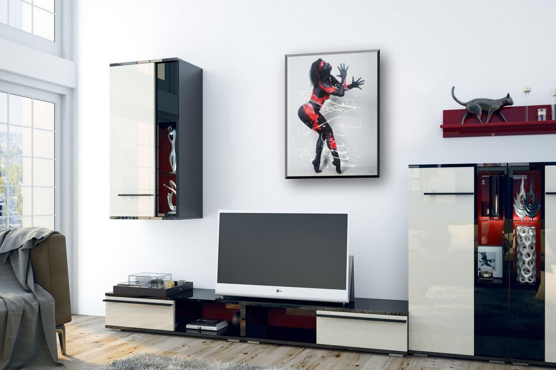 BODYART Gemälde specialArt RED.SPLASH-2 (75x100 cm, Bild auf Keilrahmen-Leinwand, artist handmade finished)