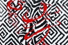 Leinwandbild GRAPHIC special ART  (Unikat, handmade artist-finished (Basisfoto: Model: Katey / Fotograf: Uwe Schmida))