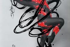 RED.SPLASH-III special ART (Unikat, handmade artist-finished  (Basisfoto: Modell: Clyeah / Fotograf: Dirk Ludwig))