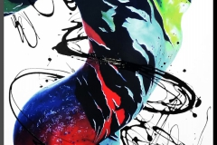 BODYART Gemälde specialArt COLOURBODY (75x100 cm, Bild auf Keilrahmen-Leinwand, artist handmade finished)