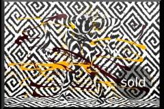 BODYART Gemälde specialArt GRAPHIC-1-No.3 (100x150 cm, Bild auf Keilrahmen-Leinwand, artist handmade finished)