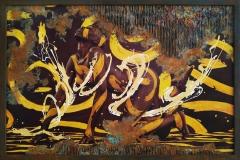 BODYART Gemälde specialArt ORNAMENT-1.1 (80x120 cm, Bild auf Keilrahmen-Leinwand, artist handmade finished)