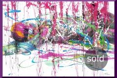 BODYART Gemälde specialArt PRINTSPLASH-1 (80x120 cm, Bild auf Keilrahmen-Leinwand, artist handmade finished)