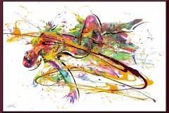 BODYART Gemälde specialArt PRINTSPLASH-3 (100x150 cm, Bild auf Keilrahmen-Leinwand, artist handmade finished)