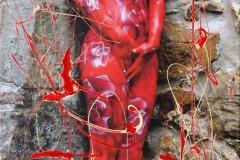 BODYART Gemälde specialArt ROSES (50x100 cm, Bild auf Keilrahmen-Leinwand, artist handmade finished)