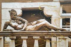 BODYART Gemälde specialArt STATUE (75x100 cm, Bild auf Keilrahmen-Leinwand, artist handmade finished)