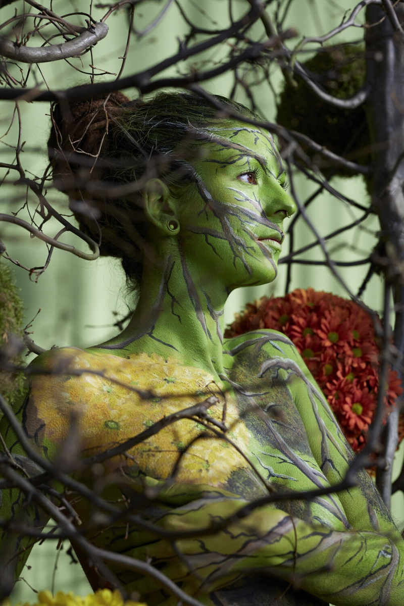Bodypainting BUGA-BAELLE  (Bodypaintingmodell: Irie Kaya / Fotograf: Markus Hermann)