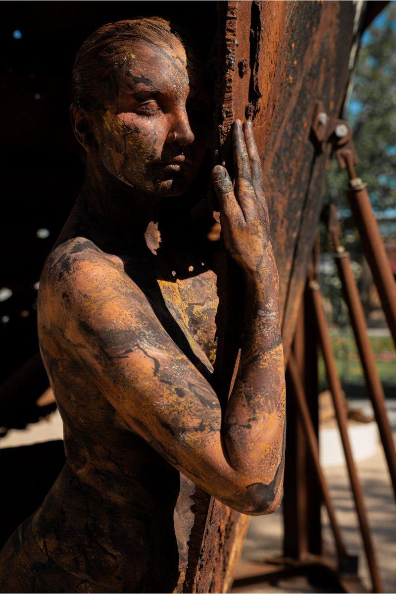 Bodypainting BUGA-SCHIFF  (Bodypaintingmodell: Fee / Fotograf: Mario Mach)
