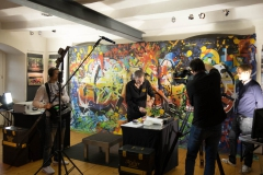 Camouflage Bodypainting live für TV-Beitrag NDR (Aktmodelle: Katey u. Renee-Claire)