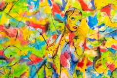 Bodypainting Performance COLOURLISA  (Nudemodel: Lisa / Fotograf: D. Largo Schulz)