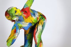 BODYPAINTING Kunstperformance COLOURMIX  (Aktmodell: Christina / Projektfotograf: F. Schneider)