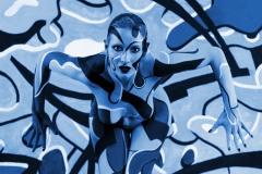 BODYPAINTING ART Kunstperformance COLOURBLOBS (Bodypaintingmodell: anonym / Projektfotograf: DLS)