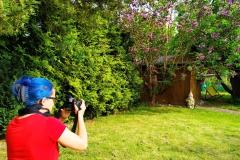 Natur-Bodypainting Dany Michalski im Garten  (Projektfotografin: AK. Schmidt)