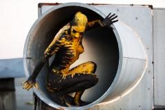Werbemotiv GOLDEN ART  (Bodypaintingmodel: Jutta / Fotograf: V. Schlegel)
