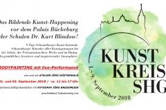 ART-Performance live bei Kunsthappening Palais Bückeburg