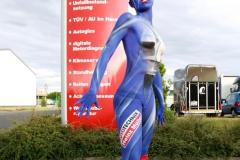 Bodypainting für Werbung u. Marketing  (Model: Caro / Fotograf: T. Skupin)
