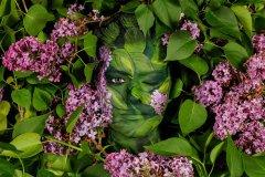 NATUR Bodypainting Kunstperformance FLIEDERBLÜTE  (Bodypaintmodell: Lana / Projektfotograf: T. Skupin)