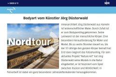 NATUREART Bodypainting Medienbeitrag NDR-Nordtour FLUSSWEHRSTEINE (Modell: Daniela / Fotograf: T. Skupin)