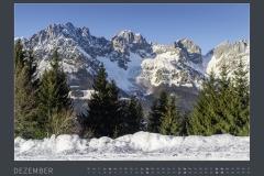 Monatsblatt DEZEMBER Kalender BODYPAINTING IN NATURE 2021