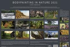 Infoblatt Kalender BODYPAINTING IN NATURE 2021