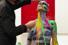 BODYART Performance PRINT.SPLASH  (Bodyartmodell: Lisa / Projektfotograf: T. Skupin / Foto: M. Falk)