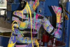 BODYART Performance PRINT.SPLASH  (Bodyartmodell: Lisa / Projektfotograf: T. Skupin)