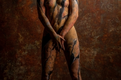 Bodypainting Performance ROSTY  (Aktmodell: Juliane / Fotograf: J. Bredemeier)