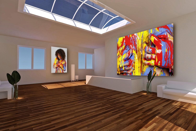 SPLASH.ART -- Fineart-Kunstprint im Raum
