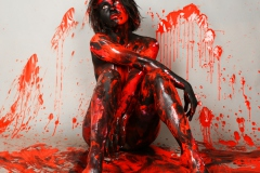 BODYART Artperformance RED.SPLASH  (Aktmodell: Clyeah / Fotograf: D. Ludwig)