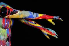 BODYART Kunstperformance DANCE.SPLASH  (Fotomodell: Anna-Lena / Fotograf: T. Skupin)