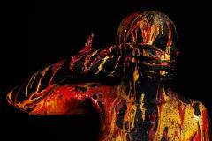 BODYART Kunstperformance DARKBLUE.SPLASH  (Bodyartmodell: Sonia / Fotograf: T. Skupin)