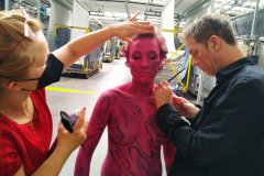 BODYPAINTING ART Marketing MakingOf VORWERK-FLOORING (Bodypaintingmodell: Nina / Projektfotograf: J. Burger)
