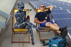 WORKING ART - Photovoltaikinstallateur / Bodypainting meets Business